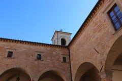 Basiliek van St Ubaldo in Gubbio in Umbrië Royalty-vrije Stock Afbeeldingen