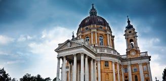 Basiliek van Superga, dichtbij Turijn. Stock Afbeelding