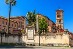 Basiliekdei Santi Bonifacio e Alessio in Rome royalty-vrije stock fotografie