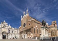 Basiliekdei Santi Giovanni e Paolo, Zanipolo, Venetië, Italië royalty-vrije stock foto