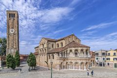 Basiliekdei Santi Maria e Donato, Duomo van Murano-Eiland, Venetië, Italië stock foto