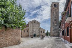 Basiliekdei Santi Maria e Donato, Kathedraal van Murano-Eiland, Venetië, Italië royalty-vrije stock afbeelding