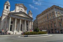 Basiliekdella Santissima Annunziata del Vastato in Genua, Italië Stock Fotografie