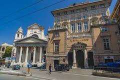 Basiliekdella Santissima Annunziata del Vastato in Genua, Italië Royalty-vrije Stock Afbeelding