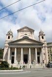 Basiliekdella Santissima Annunziata del Vastato in Genua, Italië royalty-vrije stock afbeeldingen