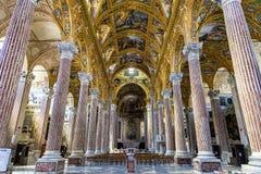 Basiliekdella Santissima Annunziata del Vastato in Genua, Italië royalty-vrije stock fotografie