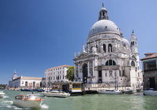 Basiliekdi Santa Maria della Salute, Venetië Stock Foto's