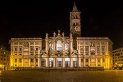 Basiliekdi Santa Maria Maggiore, Rome, Italië stock foto's
