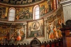 Basiliekdi Santa Maria in Trastevere, Rome, Italië Stock Afbeelding
