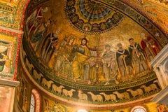 Basiliekdi Santa Maria in Trastevere, Rome, Italië Royalty-vrije Stock Foto