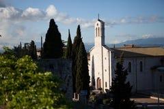 Basilika in Assisi stockfotos