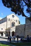Basilika av Aquileia, Italien royaltyfri fotografi