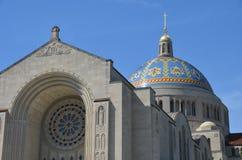 Basilika av den nationella relikskrinkatolska kyrkan, Washington DC Arkivbild