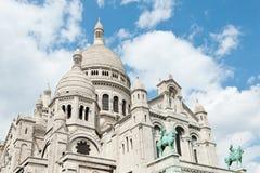 Basilika av den sakrala hjärtan av Jesus, Montmartre, Paris, Frankrike Arkivbilder