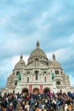 Basilika av den sakrala hjärtan av Paris (Sacre-Coeur) Arkivbild