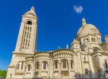 Basilika av den sakrala hjärtan, Sacre Coeur i den Montmartre kullen, Paris, Frankrike Arkivbild
