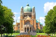 Basilika av den sakrala hjärtan i Bryssel Arkivbild