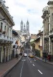 Basilika av det nationella löftet i Quito Fotografering för Bildbyråer
