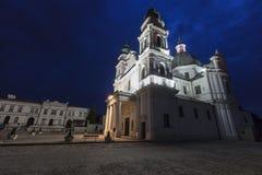 Basilika av födelsen av den jungfruliga Maryen i Chelm, Polen royaltyfria bilder