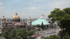Basilika av Guadalupe Virgin, Mexico - stad arkivfilmer