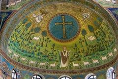 Basilika av helgonet Apollinaris i Classe, Italien Royaltyfri Fotografi