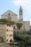 Basilika av helgonet Clare i Assisi, Italien Arkivbild