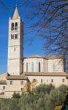 Basilika av helgonet Clare i Assisi, Italien Royaltyfria Foton