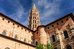 Basilika av helgonet Sernin, Toulouse, Frankrike arkivbild