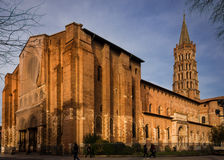 Basilika av helgonet Sernin, Toulouse, Frankrike Royaltyfri Bild