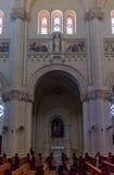 Basilika av innerväggen för Ta Pinu Arkivbilder