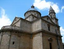 Basilika av Madonna di San Biagio i Montepulciano, Tuscany, Italien royaltyfria foton
