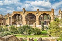 Basilika av Maxentius och Constantine, Roman Forum i Rome, Ital Royaltyfria Foton