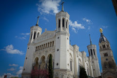 Basilika av Notre-Dame de Fourviere arkivfoto