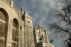 Basilika av Sacre Coeur i Paris, Frankrike Royaltyfri Fotografi
