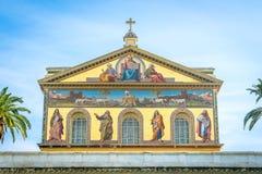 Basilika av Saint Paul utanför väggarna i Rome, Italien arkivfoton