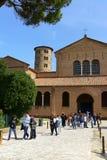 Basilika av Sant'Apollinare i Classe, Italien Arkivfoton