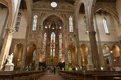 Basilika av Santa Croce i Florence, Italien Royaltyfri Bild