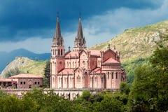Basilika av Santa Maria, Covadonga, Asturias, Spanien Arkivbild