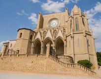 Basilika av Santa Maria de la Seu, Manresa Arkivfoto