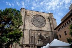 Basilika av Santa Maria del Pi i Barcelona Royaltyfri Foto