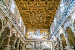 Basilika av Santa Maria i Ara Coeli, Rome, Italien royaltyfri fotografi