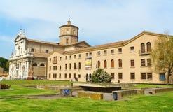 Basilika av Santa Maria i Porto och MARS museet i Ravenna, Ital Arkivfoto