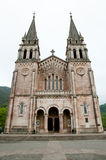 Basilika av Santa Maria la Real av Covadonga - Spanien Arkivfoton