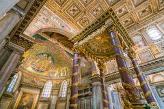 Basilika av Santa Maria Maggiore i Rome, Italien arkivbild