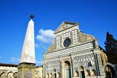 Basilika av Santa Maria Novella, florence, Italien Fotografering för Bildbyråer