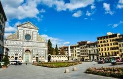 Basilika av Santa Maria Novella - Florence, Italien Royaltyfri Foto