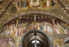 Basilika av Santa Maria Novella, Florence, Italien Arkivbilder
