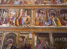 Basilika av Santa Maria Novella, Florence, Italien Royaltyfri Fotografi