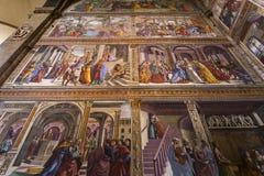 Basilika av Santa Maria Novella, Florence, Italien Arkivfoton