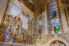 Basilika av Santa Maria Novella i Florence, Filippino Strozzi Arkivbilder